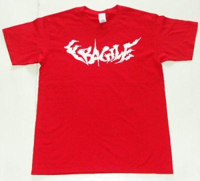画像1: FRAGILE -BRUSH LOGO- S/S tee color:[red] size:[M]