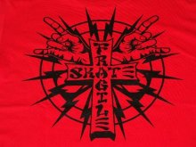他の写真1: FRAGILE -CROSS LOGO- S/S tee color:[red/black] size:[M]