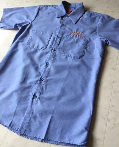 画像1: FRAGILESKATE -刺繍LOGO- ワークシャツ color:[light blue] size:[M]