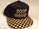 DOOM SAYERS -CHECKER- スナップバックキャップ color:[black/yellow]