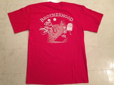 画像1: 4Q CONDITIONING -BROTHERHOOD- S/S tee color:[red] size:[S]