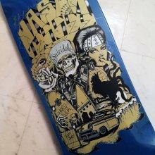 """他の写真1: SUICIDAL SKATES x JASON JESSEE LTDデッキ (POOLシェイプ) size:[9.25"""" x 32.75""""] art by Chuco Moreno"""