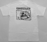 HIGH VOLTAGE -SLASH BACK- art by Bart Saric (Skater Made) S/S tee color:[white] size:[M]