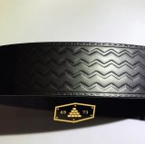 BRICKS BRAND -TIRE TREAD EMBOSSED MECHANICS BELT- レザーベルト tee color:[black] size:[30インチ]