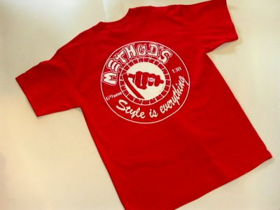 画像1: METHOD'S -GRILL & GARAGE- S/S tee color:[red] size:[L]