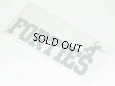 画像1: FORTIES -LOGO- sticker color:[gray]
